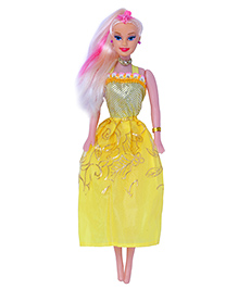 Planet Of Toys Fashion Doll With Hair Accessory Yellow - 28 Cm