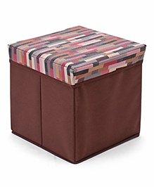 Babyhug Foldable Storage Box Multicolor Stripes Print - Brown