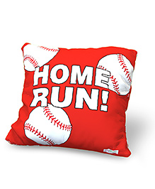 Baby Oodles Cushion With Inner Filler Baseball Print - Red