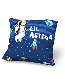 Baby Oodles Cushion With Inner Filler Lil Astronaut Print - Blue