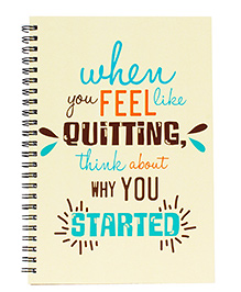 The Crazy Me Never Quit Print Notebook A5 Size - Cream