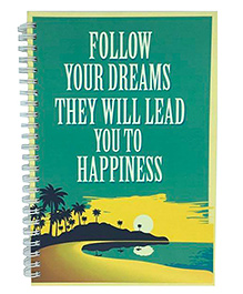 The Crazy Me Dreams Print Notebook A5 Size - Green