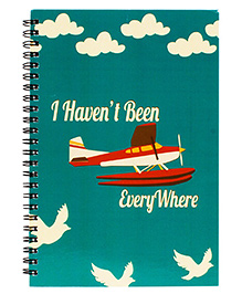 The Crazy Me Everywhere Print Spiral Notebook A5 Size - Green