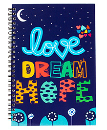 The Crazy Me Dream Print Spiral Notebook A5 Size - Navy