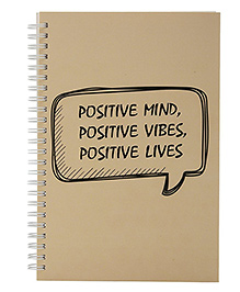 The Crazy Me Positive Life Print Notebook A5 Size - Beige