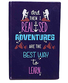 The Crazy Me Adventure Print Notebook A5 Size - Purple
