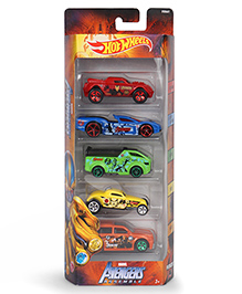 Hot Wheels Themed Avengers Cars Multicolor - Pack Of 5