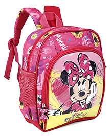 Disney School Bag Minnie Mouse Print Pink - 10 Inches