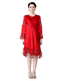Innovative Pretty Lace Dress - Red