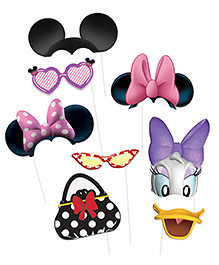 Funcart Disney Minnie Themed Photo Booth Props Multicolour - 8 Pieces