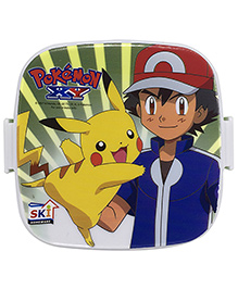 Funcart Pokemon Lunch Box With Fork Spoon - Multicolor