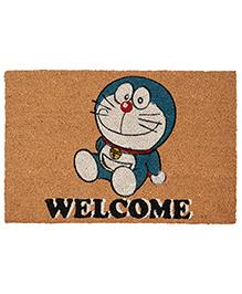 Saral Home Doraemon Theme Heavy Duty Coir Door Mat - Brown - 1984415