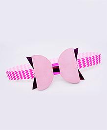 Little Tresses Chevron Print Double Bow Headband - Pink
