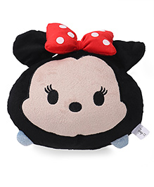 Disney Tsum Tsum Minnie Face Plush Cushion Black - 20 Cm