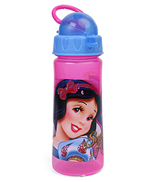 Disney Snow White Sipper Bottle With Handle Pink Blue - 500 Ml