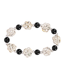 Daizy Pearl Diamond Bracelet - Black