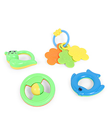 Dr.Toy Baby Rattles Pack Of 4 - Multicolour