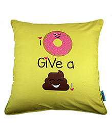 The Crazy Me Cushion Cover Quote Print - Yellow