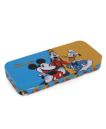 Disney Mickey & Friends Pencil Box With Tray - Blue Yellow