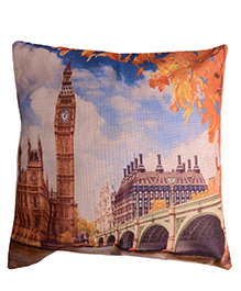 Home Union Polyster Digital Printed Cushion Cover - Blue