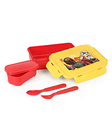 Star Wars Lunch Box With Fork & Spoon Yellow & Red - 700 Ml