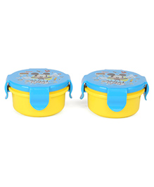 Disney Junior Lunch Box Mickey Mouse Print Pack Of 2 - Blue & Yellow