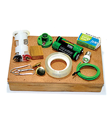 ProjectsforSchool DIY Wooden Conductivity Testing Kit Pack Of 14 Pieces - Multicolour