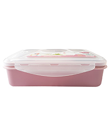 Little Jamun Eco Friendly Lunch Box With Transparent Lid Spoon - Pink