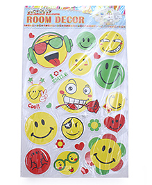 Smiley Theme Room Decor Sticker - Yellow