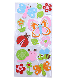 Bee & Butterfly Shape Room Decor Stickers - Multi Color