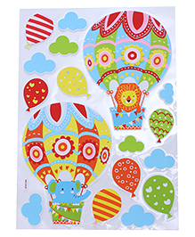 Hot Air Balloon & Cloud Shape Room Decor Sticker - Multi Color