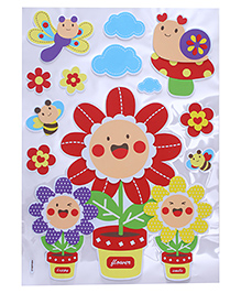 Sunflower & Bee Shape Room Decor Sticker - Multi Color