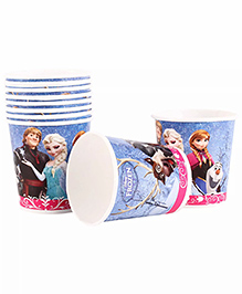 Funcart Disney Frozen Paper Cups Multicolor Pack Of 10 - 200 Ml