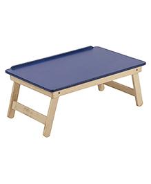 NHR Multipurpose Foldable Wooden Laptop Table - Blue