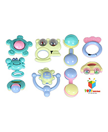 Toys Bhoomi Musical Baby Rattle Pack Of 9 - Multicolour