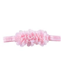 Little Palz Hair Band Floral Applique - Light Pink