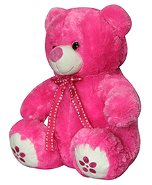 Soft Buddies Floral Paw Teddy Bear Soft Toy Pink - Height 45 Cm