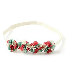 Little Hip Boutique Ruffle Flower Hair Band - White