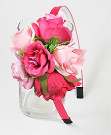 Asthetika Floral Hair Band - Pink & Light Pink