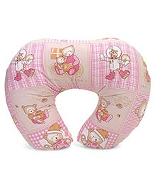 Babyhug Feeding Pillow Teddy Bear Print - Pink