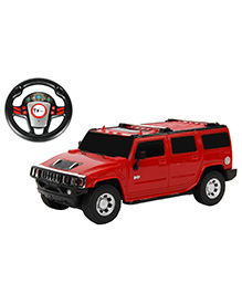 Toyhouse Hummer SUV RC Car With Gravity Sensor Steering Remote - Red