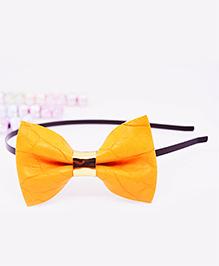 Little Tresses Medium Bow Hairband - Yellow