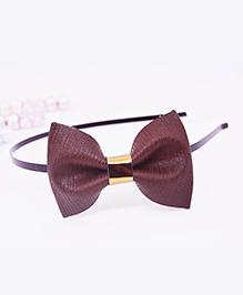 Little Tresses Medium Bow Hairband - Brown