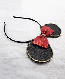 Milyra Hair Band Minnie Ears & Bow Applique - Red & Black
