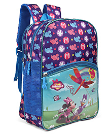 Disney Minnie Mouse School Bag Blue - Height 14 Inches