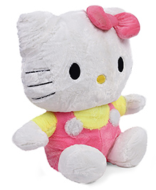 Hello Kitty Plush Soft Toy With Bow Pink Yellow  - Height 50 Cm