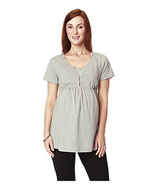 Nine Maternity Nursing Top - Grey
