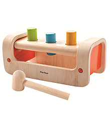 Plan Toys Wooden Pounding Bench Toy - Multi Color