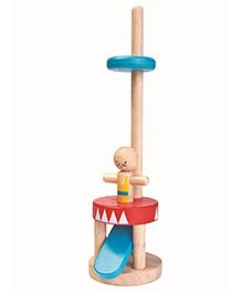 Plan Toys Wooden Jumping Acrobat Toy - Brown
