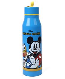 Disney Mickey Mouse & Friends Water Bottle With Screw Cap Blue - 500 Ml